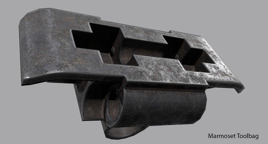 坦克跟踪标记 royalty-free 3d model - Preview no. 13