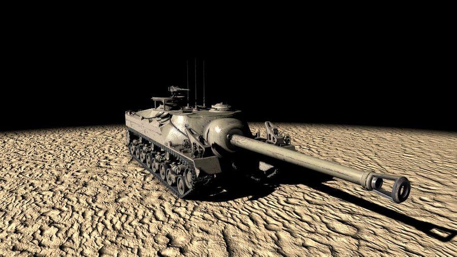 T95/T28 GMC Tank royalty-free 3d model - Preview no. 1