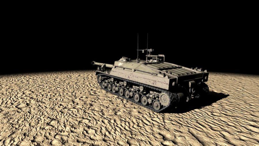 T95/T28 GMC Tank royalty-free 3d model - Preview no. 2