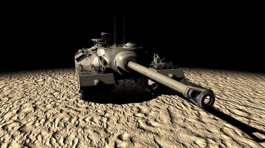 T95/T28 GMC Tank royalty-free 3d model - Preview no. 5