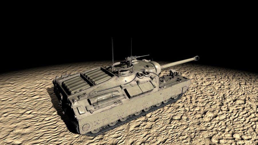 T95/T28 GMC Tank royalty-free 3d model - Preview no. 4