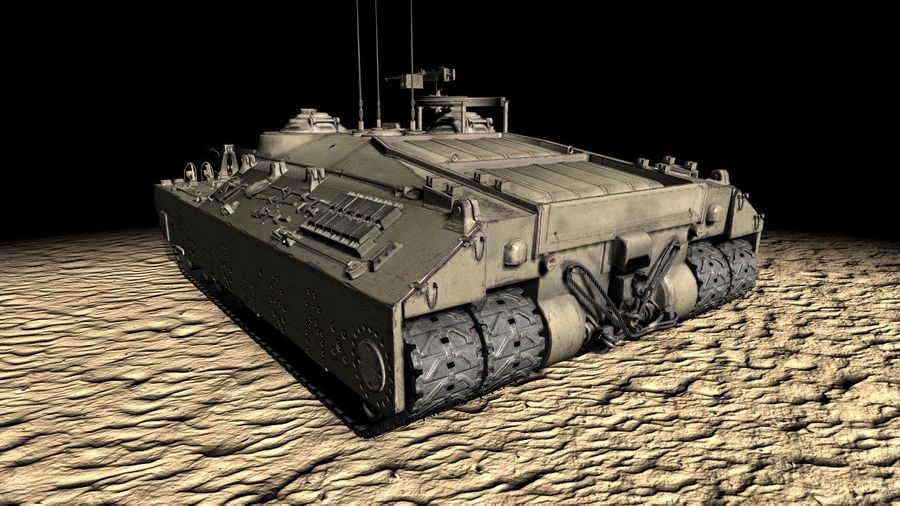 T95/T28 GMC Tank royalty-free 3d model - Preview no. 6