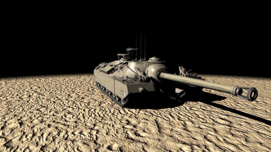 T95/T28 GMC Tank royalty-free 3d model - Preview no. 3