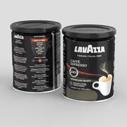 咖啡罐Lavazza咖啡浓咖啡250g 3d model