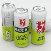 Lata De Cerveza Becks Limón Verde 500ml modelo 3d