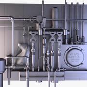 Instalación industrial modelo 3d
