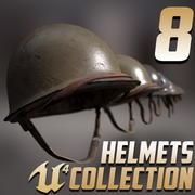 8 Helmets Collection 3d model
