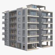 Apartment Building 12 3d model