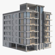 Apartment Building 15 3d model
