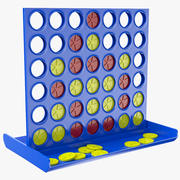 Connect Four Kids Game 3d model
