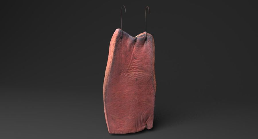 Smoked Bacon royalty-free 3d model - Preview no. 3