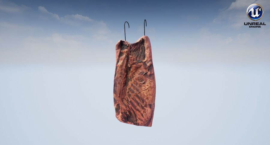 Smoked Bacon royalty-free 3d model - Preview no. 21