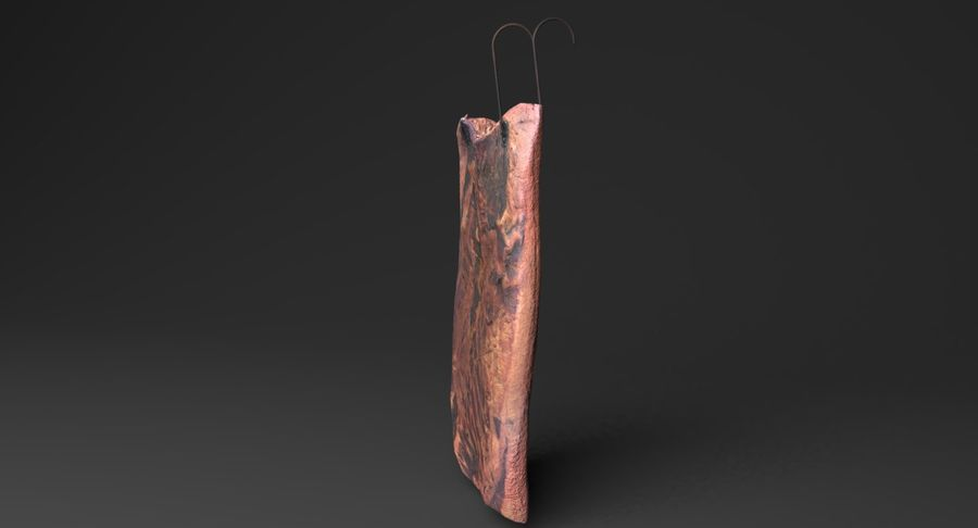 Smoked Bacon royalty-free 3d model - Preview no. 5