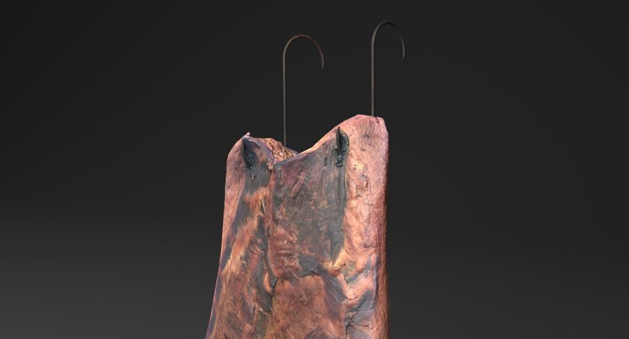 Smoked Bacon royalty-free 3d model - Preview no. 8