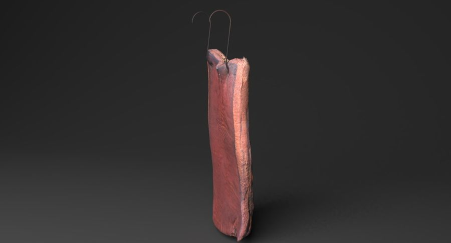 Smoked Bacon royalty-free 3d model - Preview no. 4
