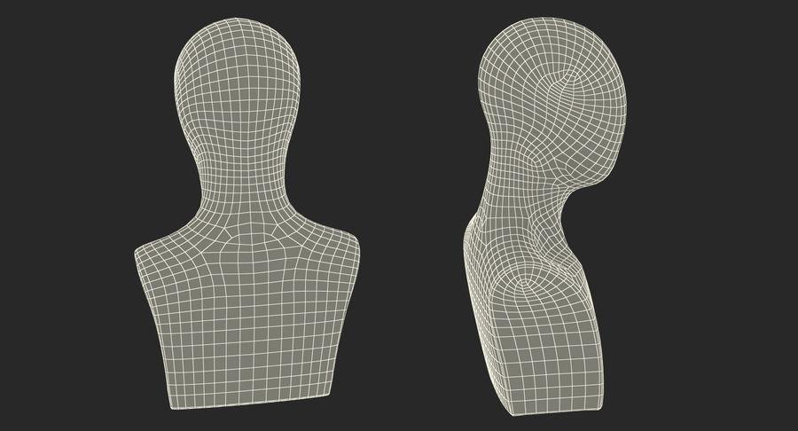 Siyah Plastik Egghead Erkek Ekran Başlığı 3D Model royalty-free 3d model - Preview no. 13