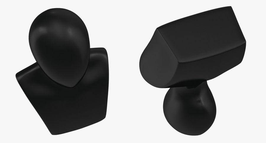 Siyah Plastik Egghead Erkek Ekran Başlığı 3D Model royalty-free 3d model - Preview no. 5