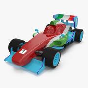 Wyścigi samochodowe generyczne 3d model