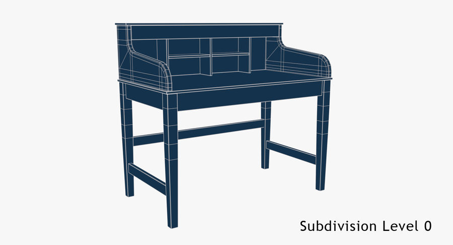 Study Table royalty-free 3d model - Preview no. 7