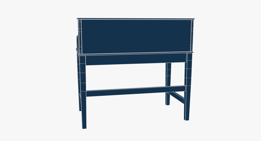 Study Table royalty-free 3d model - Preview no. 11