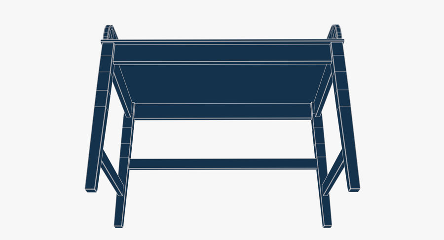 Study Table royalty-free 3d model - Preview no. 10