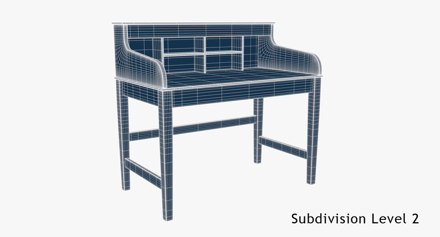 Study Table royalty-free 3d model - Preview no. 9