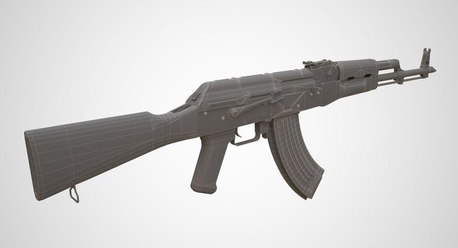 AKM AK-47 royalty-free 3d model - Preview no. 19