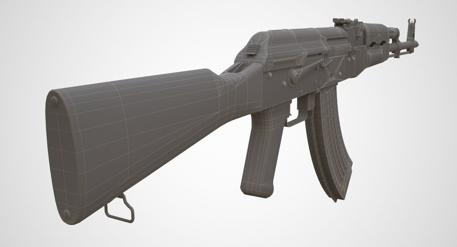 AKM AK-47 royalty-free 3d model - Preview no. 25