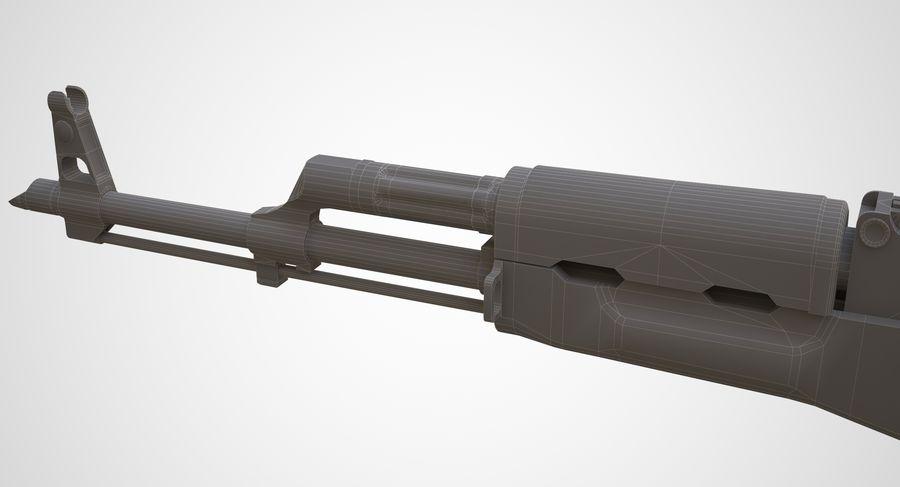 AKM AK-47 royalty-free 3d model - Preview no. 28