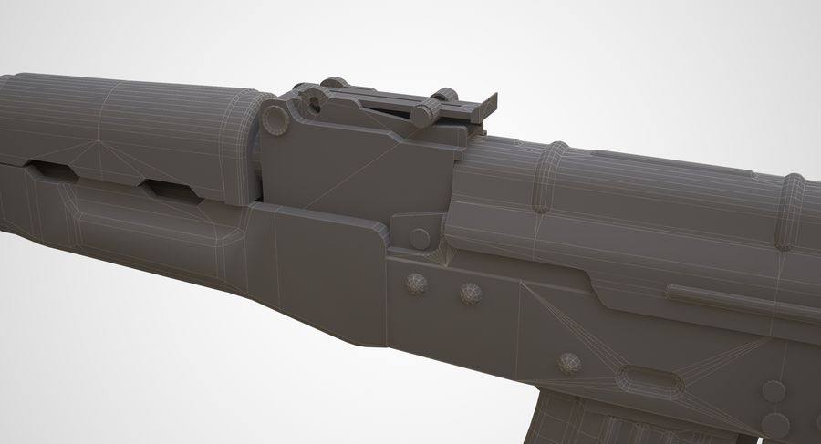 AKM AK-47 royalty-free 3d model - Preview no. 27