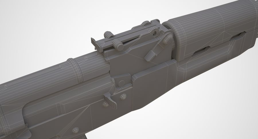 AKM AK-47 royalty-free 3d model - Preview no. 21