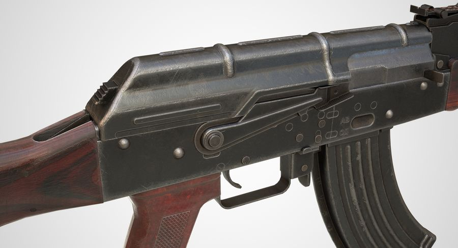 AKM AK-47 royalty-free 3d model - Preview no. 18