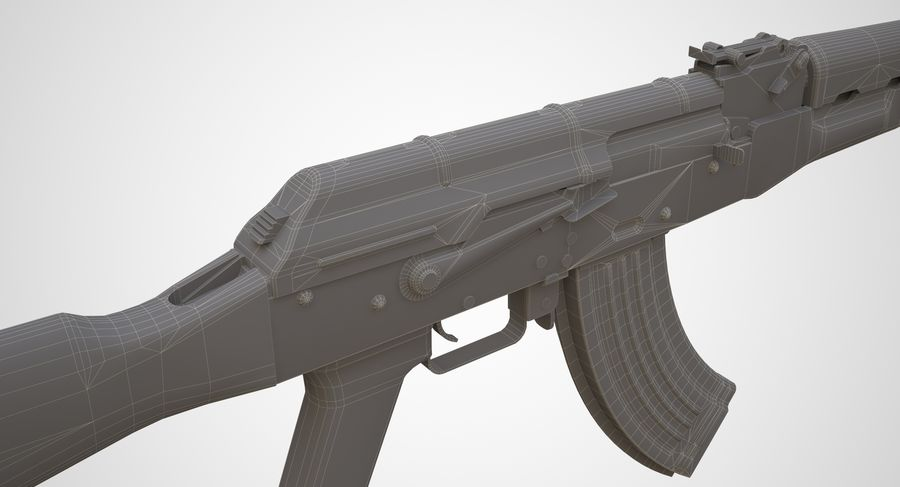 AKM AK-47 royalty-free 3d model - Preview no. 20