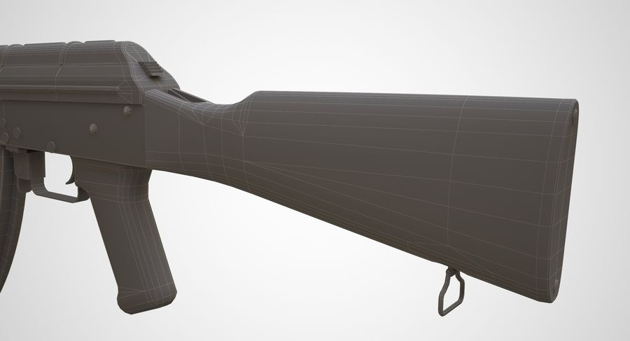 AKM AK-47 royalty-free 3d model - Preview no. 26