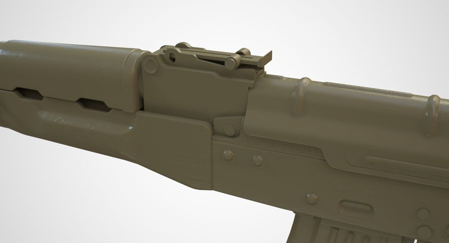 AKM AK-47 royalty-free 3d model - Preview no. 43