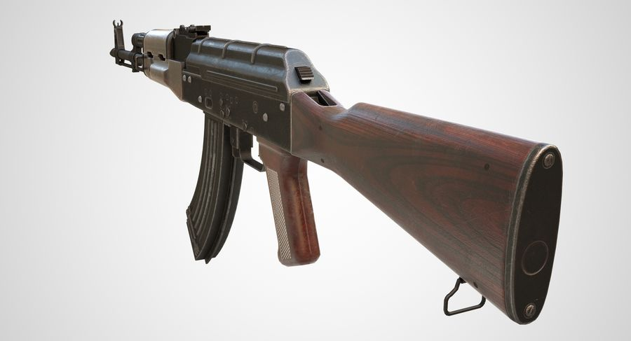 AKM AK-47 royalty-free 3d model - Preview no. 15