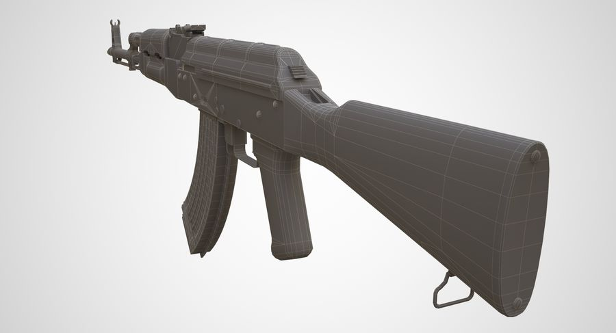 AKM AK-47 royalty-free 3d model - Preview no. 31