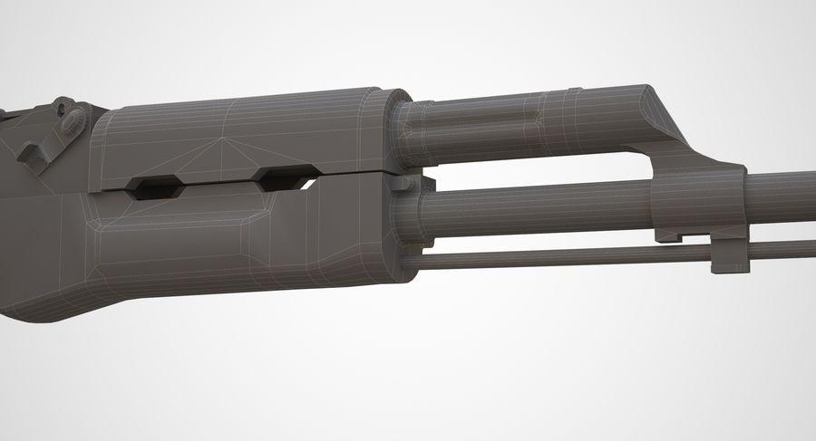 AKM AK-47 royalty-free 3d model - Preview no. 22