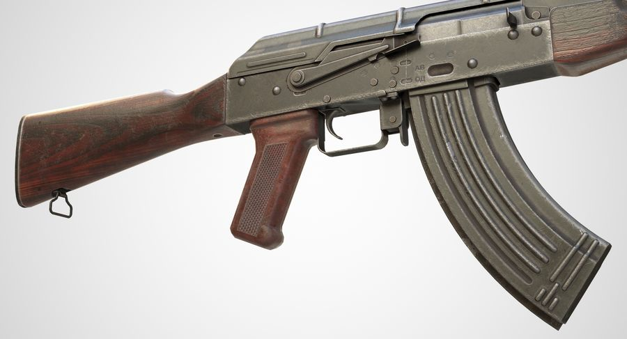 AKM AK-47 royalty-free 3d model - Preview no. 8