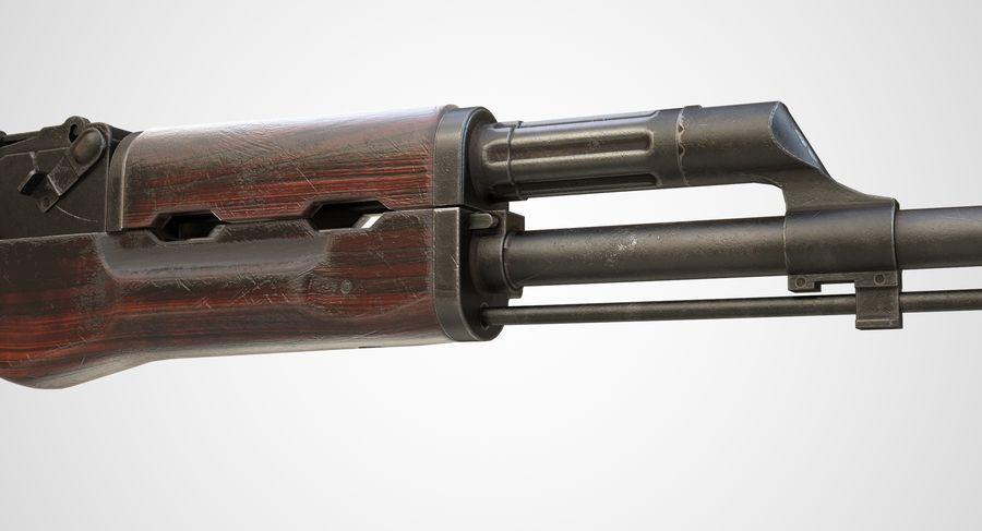AKM AK-47 royalty-free 3d model - Preview no. 6