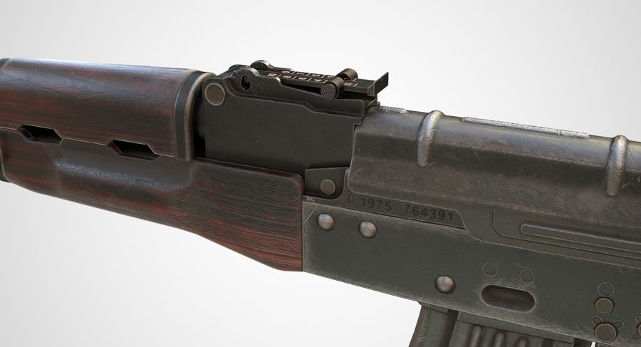 AKM AK-47 royalty-free 3d model - Preview no. 11