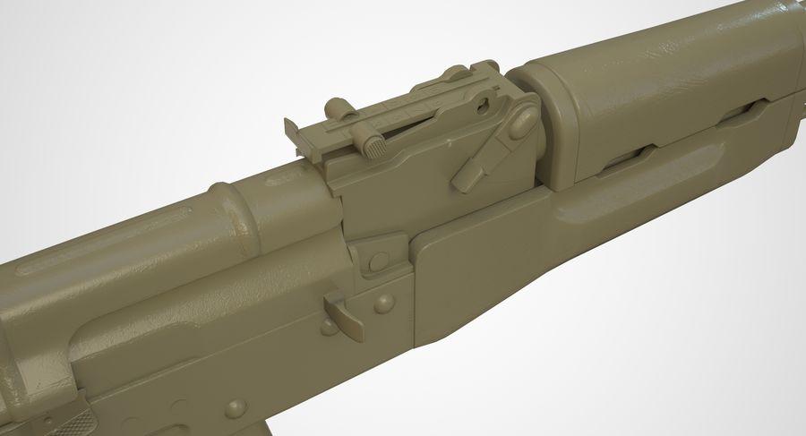 AKM AK-47 royalty-free 3d model - Preview no. 37