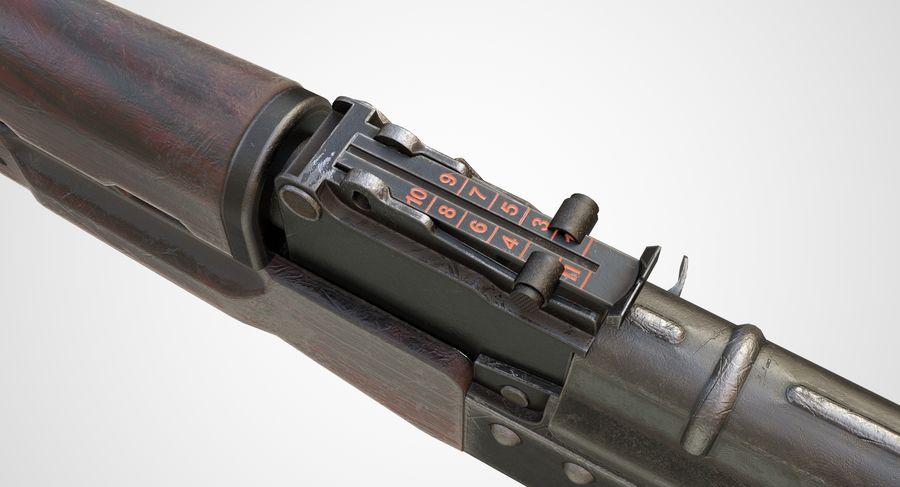 AKM AK-47 royalty-free 3d model - Preview no. 13