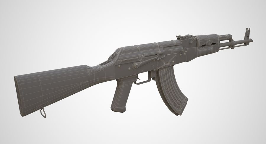 AKM AK-47 royalty-free 3d model - Preview no. 19