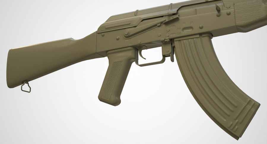 AKM AK-47 royalty-free 3d model - Preview no. 40