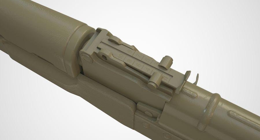 AKM AK-47 royalty-free 3d model - Preview no. 45