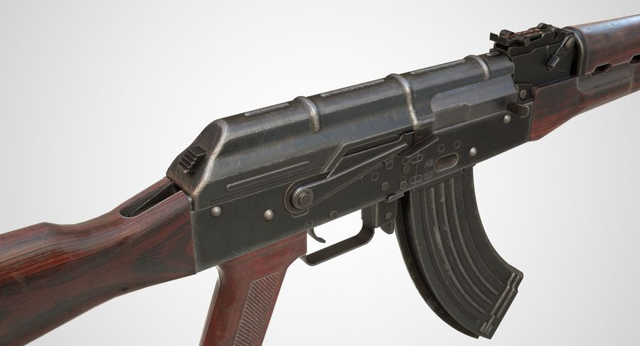 AKM AK-47 royalty-free 3d model - Preview no. 4