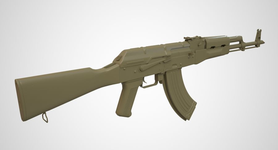 AKM AK-47 royalty-free 3d model - Preview no. 35