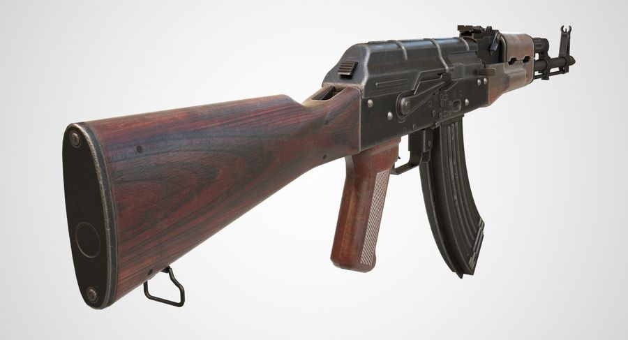 AKM AK-47 royalty-free 3d model - Preview no. 9
