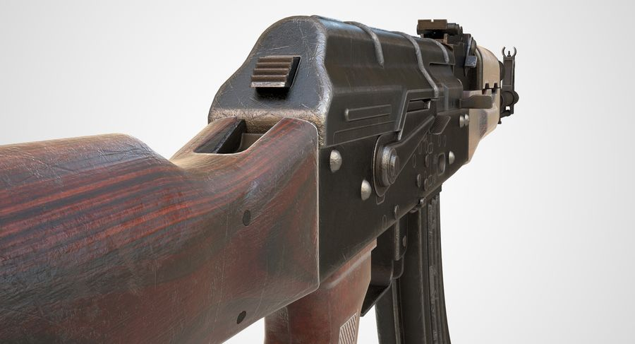 AKM AK-47 royalty-free 3d model - Preview no. 16